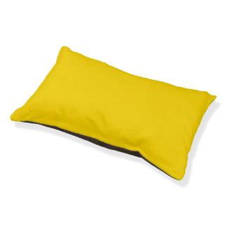 Color sólido amarillo del autobús escolar cama para perro pequeño