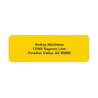 Color sólido amarillo del autobús escolar etiquetas de remite