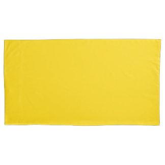 Color sólido amarillo del autobús escolar funda de cojín