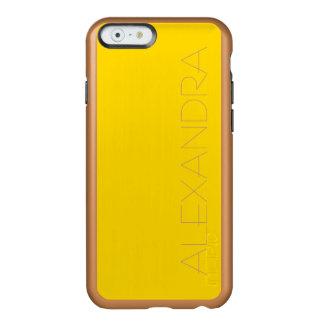 Color sólido amarillo del autobús escolar funda para iPhone 6 plus incipio feather shine