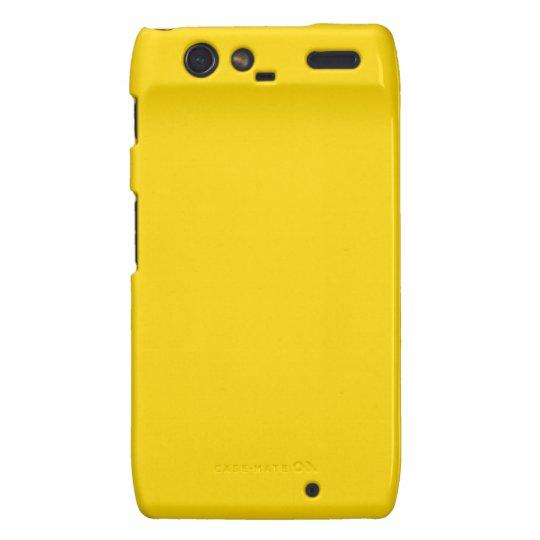 Color sólido amarillo del autobús escolar funda para motorola droid RAZR