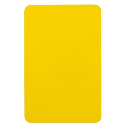Color sólido amarillo del autobús escolar iman rectangular