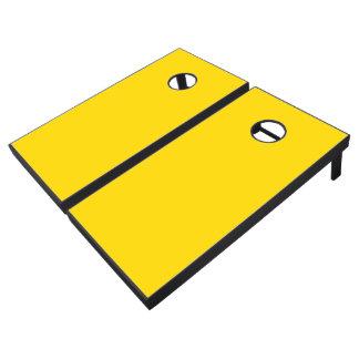 Color sólido amarillo del autobús escolar juego de cornhole