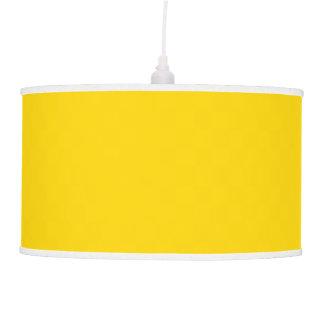 Color sólido amarillo del autobús escolar lámpara de techo
