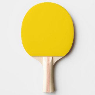 Color sólido amarillo del autobús escolar pala de tenis de mesa