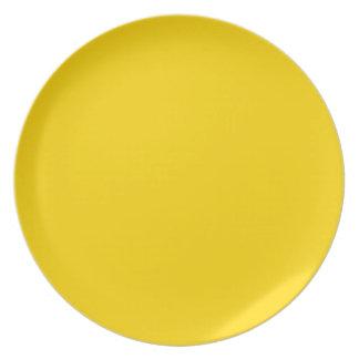 Color sólido amarillo del autobús escolar plato para fiesta