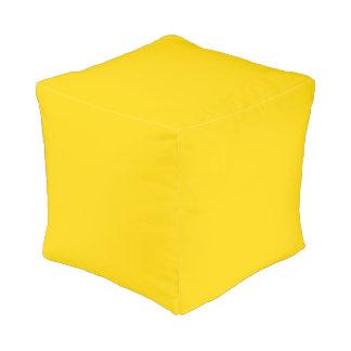 Color sólido amarillo del autobús escolar puff cuadrado