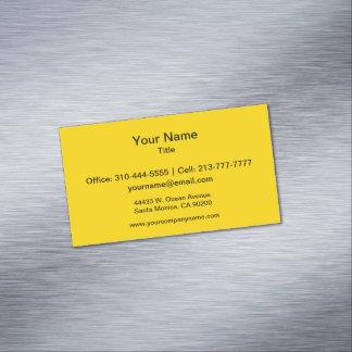Color sólido amarillo del autobús escolar tarjetas de visita magnéticas (paquete de 25)