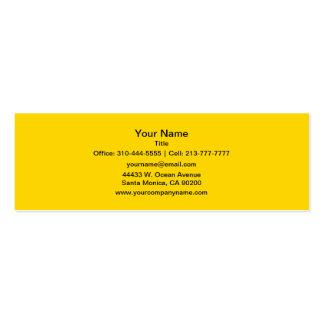 Color sólido amarillo del autobús escolar tarjetas de visita mini