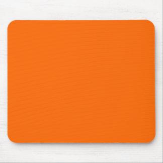 Color sólido anaranjado brillante tapetes de ratones