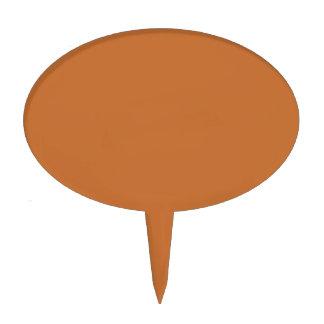 Color sólido anaranjado del canela figura para tarta