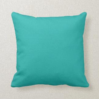 Color sólido azul Backround del trullo de la aguam Cojín