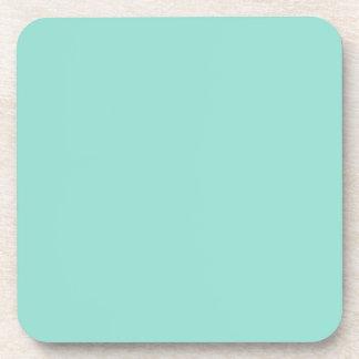 Color sólido azul del huevo del petirrojo posavasos