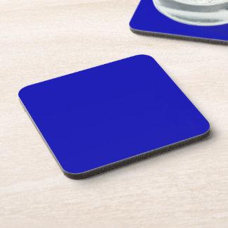 Color sólido azul marino posavasos