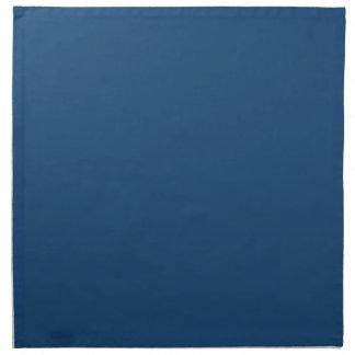 Color sólido azul noble de Mónaco Servilletas De Papel