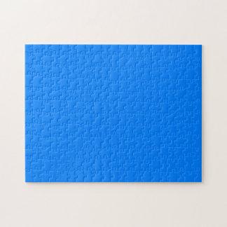 Color sólido azul rompecabeza con fotos