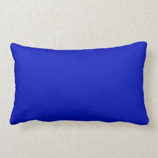 Color sólido: Azul real Almohada