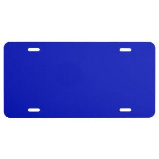Color sólido: Azul real Placa De Matrícula
