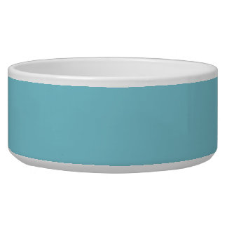 Color sólido azul tropical tazones para perrros