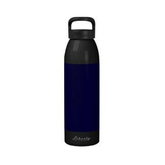 Color sólido: Azules marinos Botella De Agua