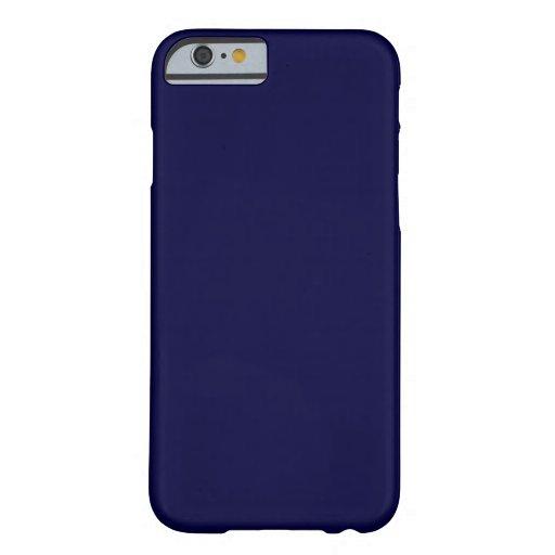 Color sólido: Azules marinos Funda De iPhone 6 Barely There