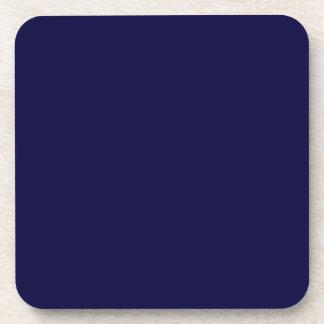 Color sólido: Azules marinos Posavasos De Bebida