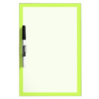 Color sólido chartreuse tableros blancos