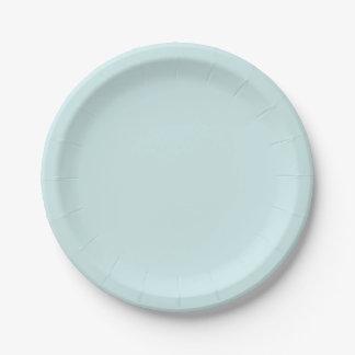 Color sólido ciánico ligero plato de papel 17,78 cm