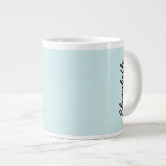 Color sólido ciánico ligero taza grande