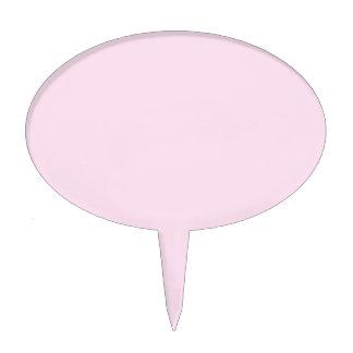 Color sólido clásico del rosa color de rosa figuras para tartas