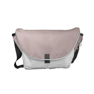 Color sólido color de rosa brumoso bolsa messenger