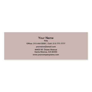 Color sólido color de rosa brumoso tarjetas de visita mini