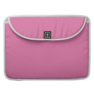 Color sólido color de rosa funda para macbook pro