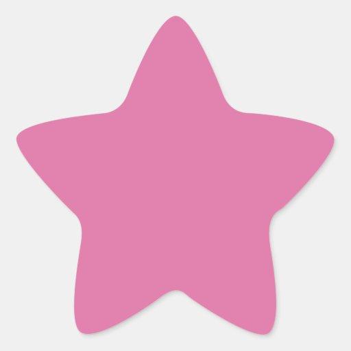 Color sólido color de rosa pegatina en forma de estrella