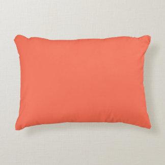 Color sólido: Coral Cojín Decorativo