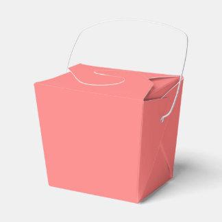 Color sólido coralino ligero cajas para detalles de boda