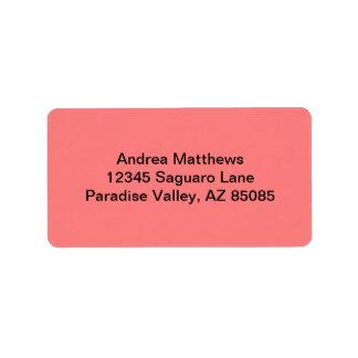 Color sólido coralino ligero etiquetas de dirección