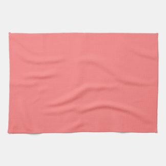 Color sólido coralino ligero toallas