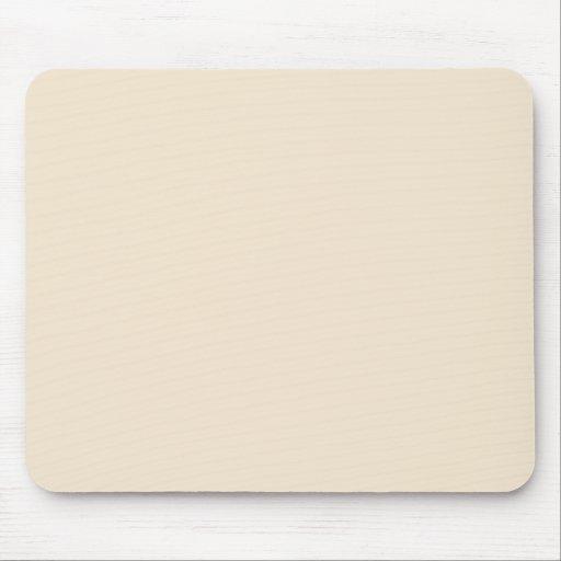 Color sólido de Champán Tapetes De Ratones