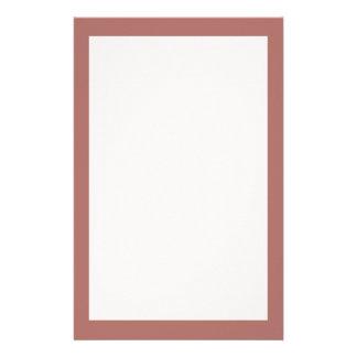 Color sólido de cobre papelería personalizada