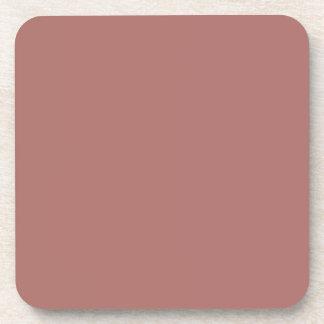 Color sólido de cobre posavasos de bebida