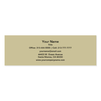 Color sólido de color caqui tarjetas de visita mini