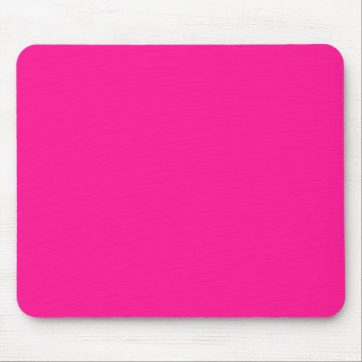 Color sólido de color rosa oscuro tapetes de ratón