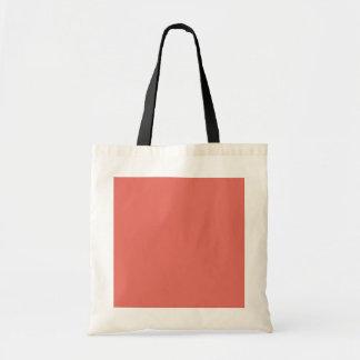 Color sólido de color salmón bolsa tela barata