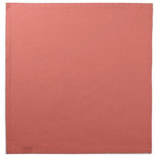 Color sólido de color salmón servilleta imprimida