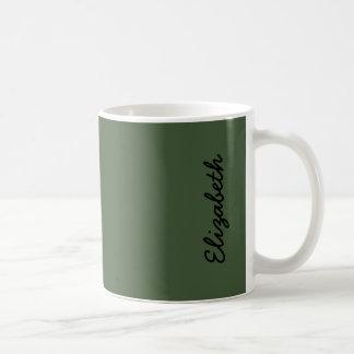 Color sólido de Forest Green Taza De Café