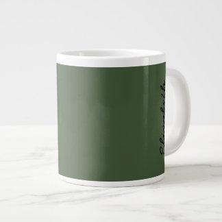 Color sólido de Forest Green Taza Grande