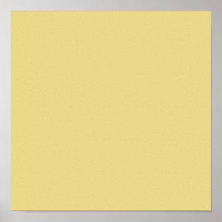 Color sólido de gama alta amarillo de las natillas poster