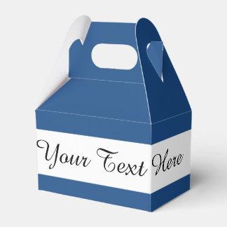 Color sólido de gama alta azul clásico cajas para regalos