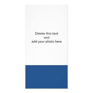 Color sólido de gama alta azul clásico tarjeta personal con foto